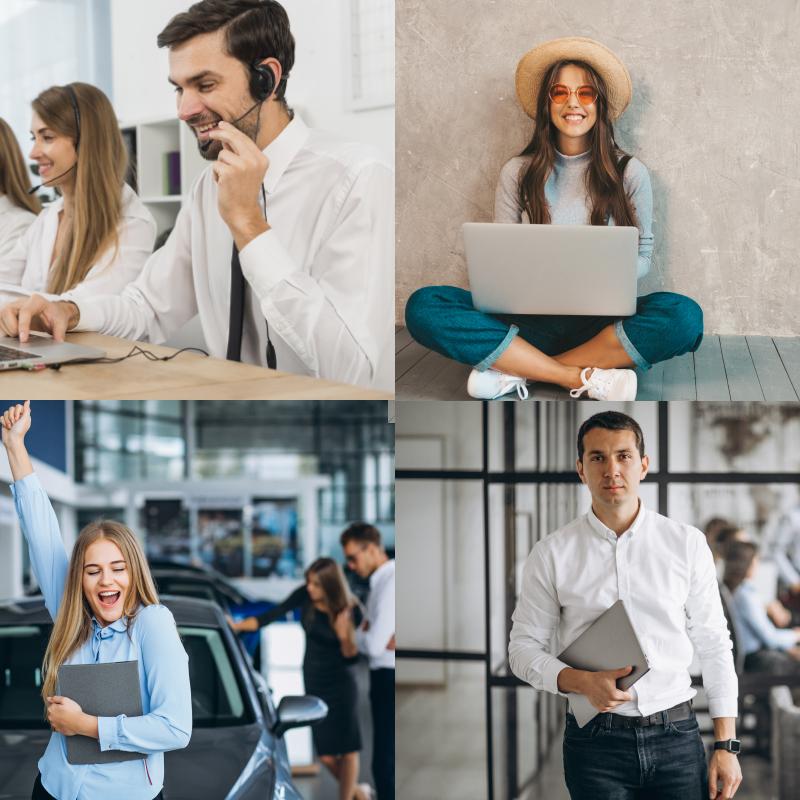 Értékesítési-, ügyfélszolgálati-, marketing-, menedzsment területek